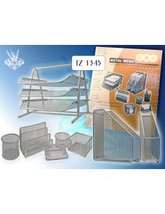 TUKZAR Настольный офис набор, 8 предметов, металл. серый, арт. TZ 1345 S