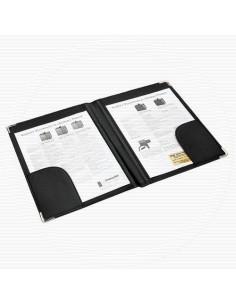 Папка адресная с двумя карманами, кожзам., разм. 330х250 мм (АЛЕКС), арт. 165