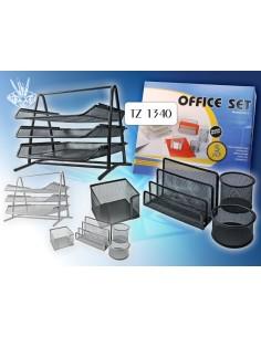 Настольный офис набор, 5 предметов, серый цвет TZ 1340S