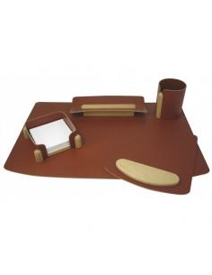 Настольный набор Panta Plast - Цвета - орех или коньяк