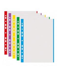 Папка-карман с цветной перфорацией - А4, 100шт/уп