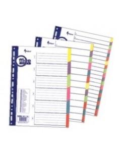 Разделитель А4 1-12 бумажный, цветной