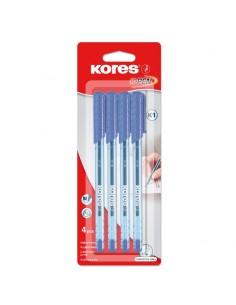 """Ручка шариковая Kores """"К1"""" набор 4 штуки"""