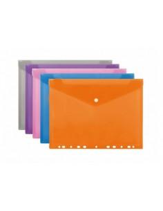 """Папка конверт на кнопке с перфорацией """"Economix"""""""