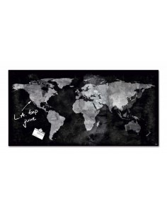 """Доска """"Карта мира"""" стекло"""