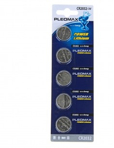 Элемент питания литиевый дисковый 3V PLEOMAX Samsung (5шт) CR2032