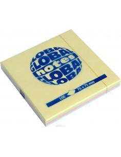 Бумага для заметок GLOBAL NOTES 75х75 мм 4 пастельных цвета