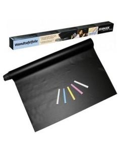 Самоклеющаяся черная пленка с имитацией поверхности школьной доски 45*200см