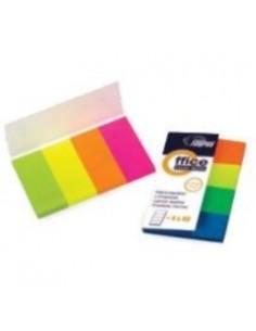 FORPUS Самоклеющиеся индексы, 20х50мм, 4 цвета, бумажные, 160 листков