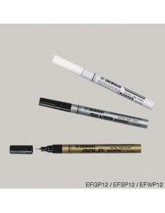 SNOWMAN Маркер лаковый серебро EFSP-12 (0,5 мм)